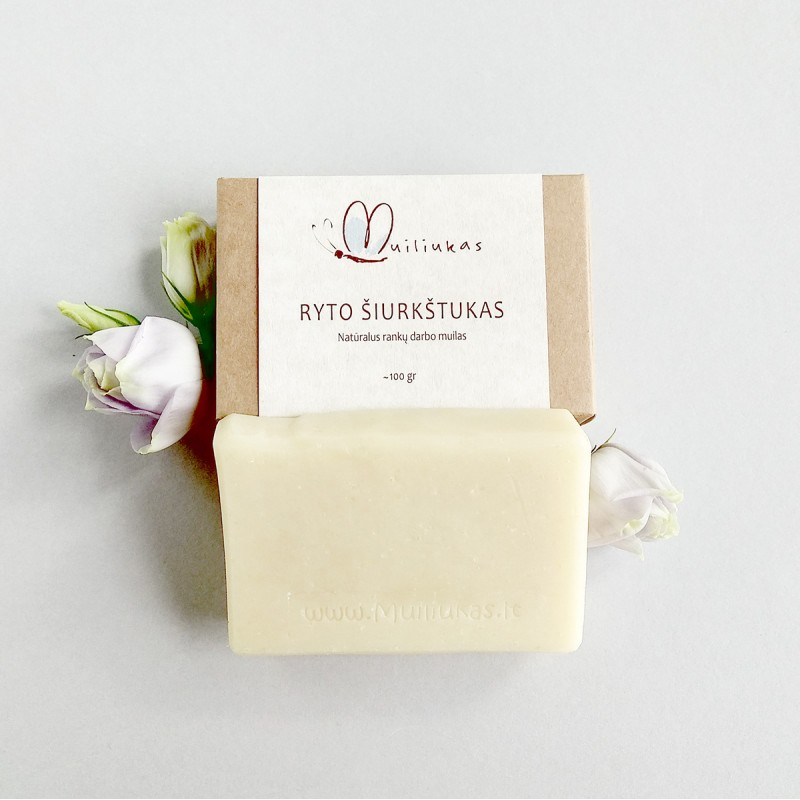 Natural body scrub soap with amber