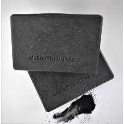 Natural soap with charcoal powder