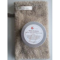 Soft sauna soap with natural linen sponge
