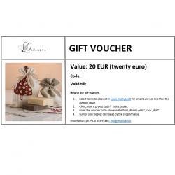 Gift voucher for items in www.muiliukas.lt