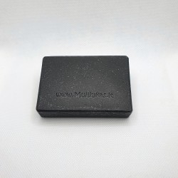 Natural soap bar with activated charcoal powder