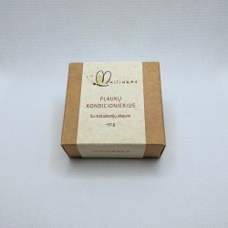 Solid natural conditioner with macadamia nuts oil, handmade