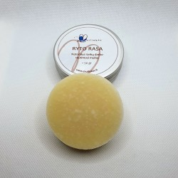 Natural solid shaving soap with mint and tea tree, for sensitive skin