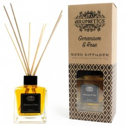Natural home fragrance, geranium and rose